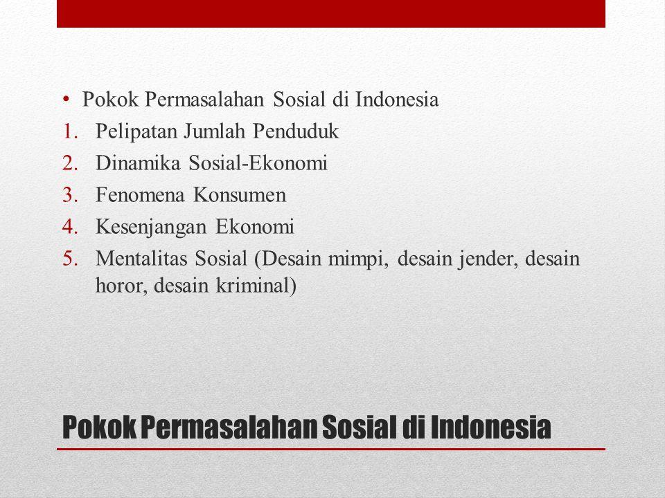 Pokok Permasalahan Sosial di Indonesia