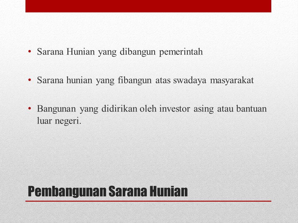 Pembangunan Sarana Hunian