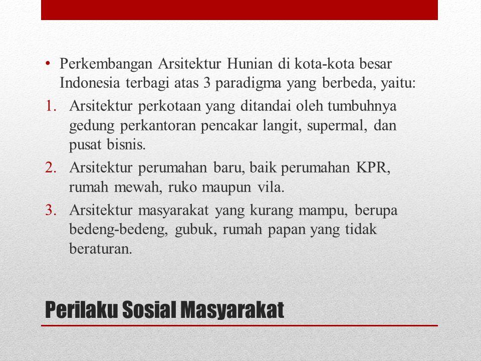 Perilaku Sosial Masyarakat