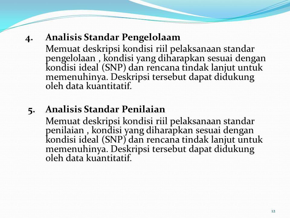4. Analisis Standar Pengelolaam