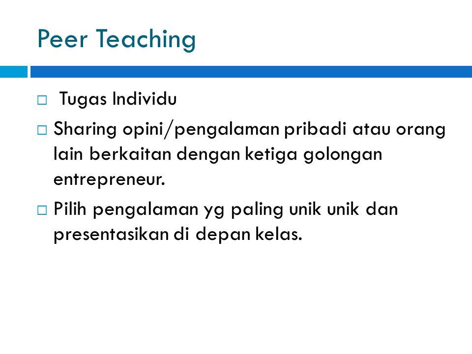 Peer Teaching Tugas Individu