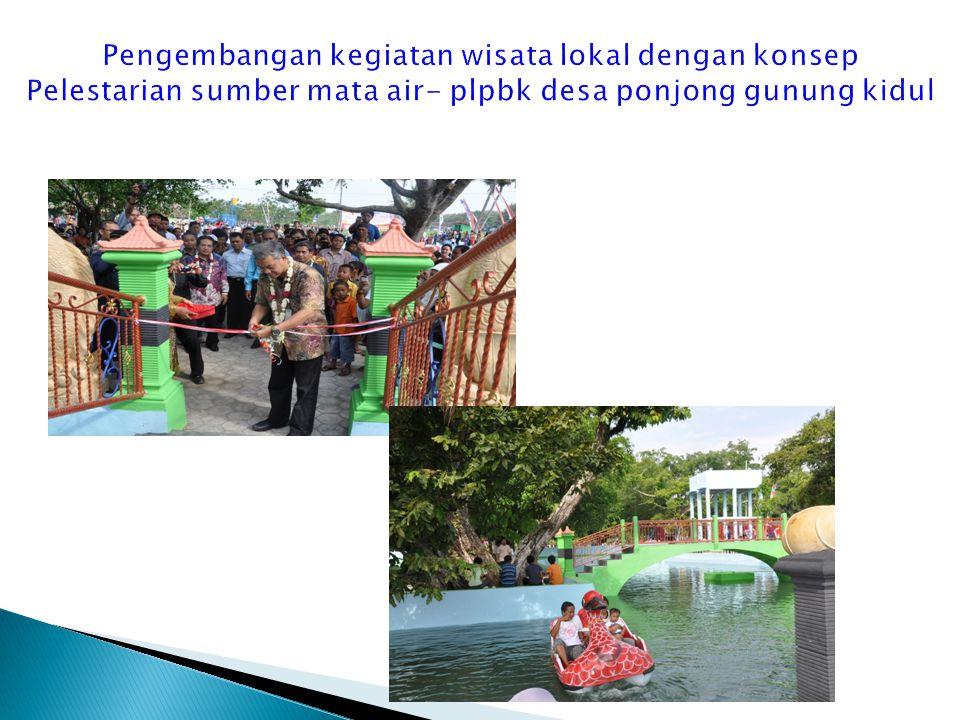 Pengembangan kegiatan wisata lokal dengan konsep Pelestarian sumber mata air- plpbk desa ponjong gunung kidul