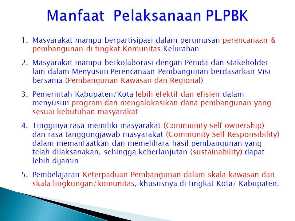 Manfaat Pelaksanaan PLPBK