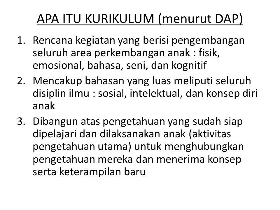 APA ITU KURIKULUM (menurut DAP)