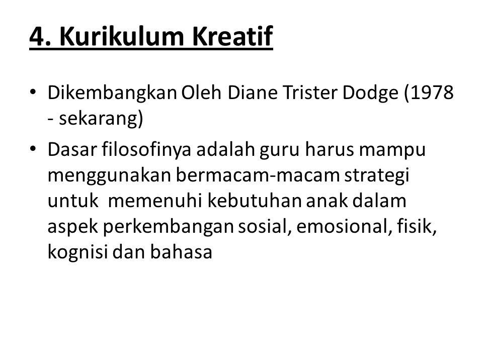 4. Kurikulum Kreatif Dikembangkan Oleh Diane Trister Dodge (1978 - sekarang)