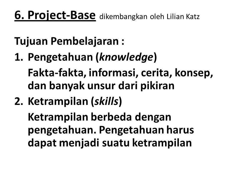 6. Project-Base dikembangkan oleh Lilian Katz