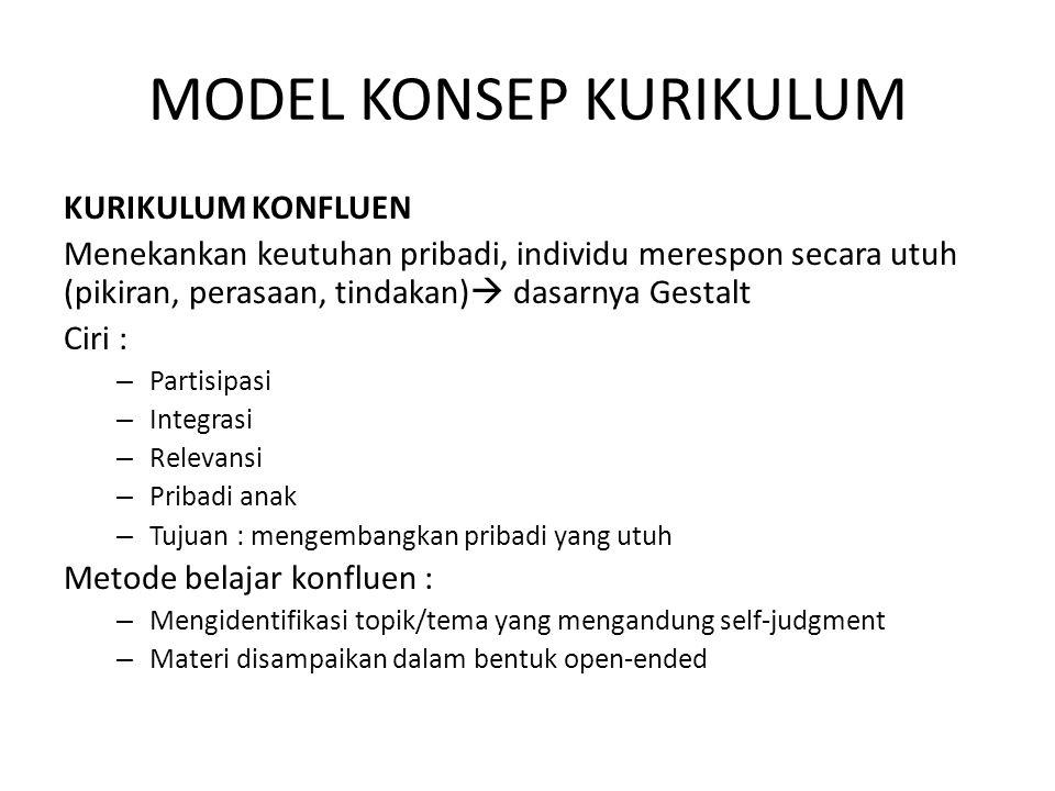 MODEL KONSEP KURIKULUM