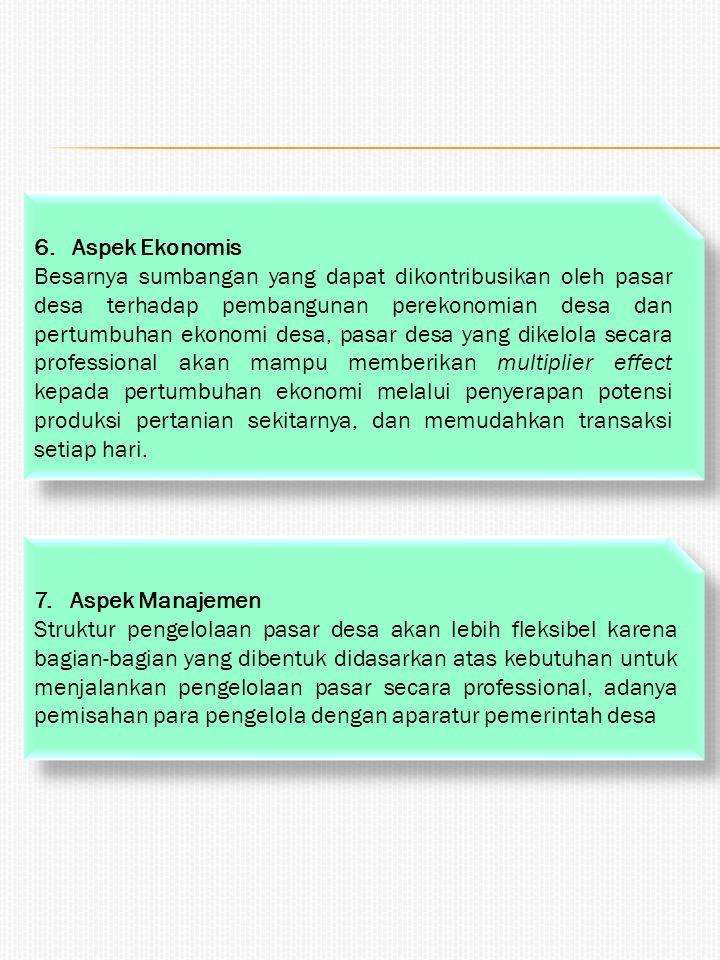 6. Aspek Ekonomis
