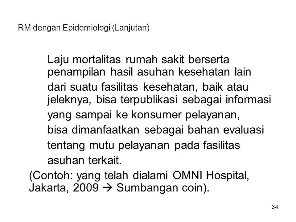 RM dengan Epidemiologi (Lanjutan)