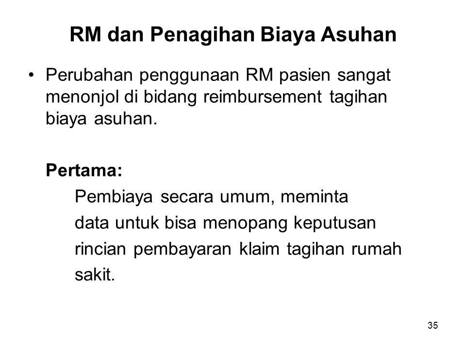 RM dan Penagihan Biaya Asuhan