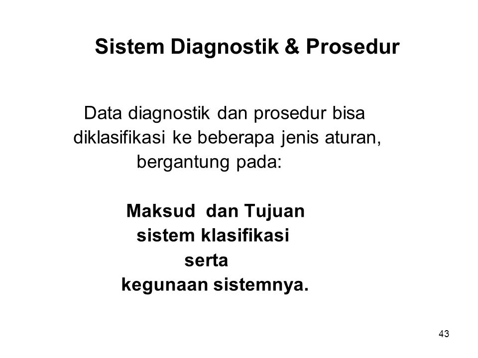 Sistem Diagnostik & Prosedur