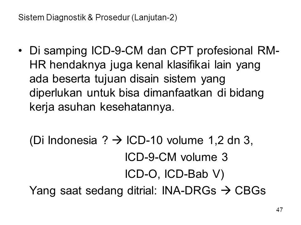 Sistem Diagnostik & Prosedur (Lanjutan-2)