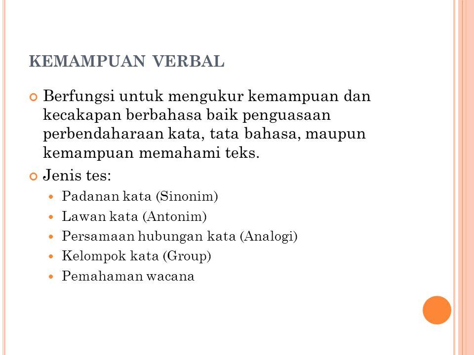 kemampuan verbal
