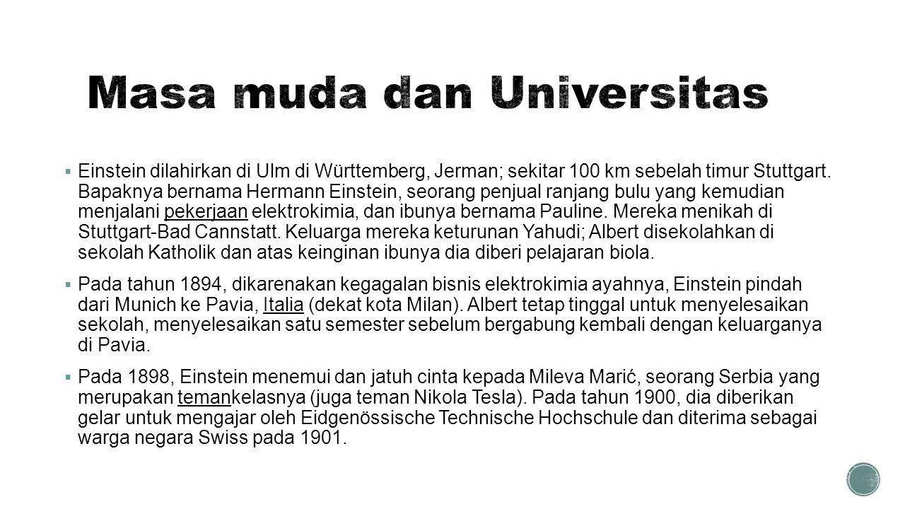 Masa muda dan Universitas