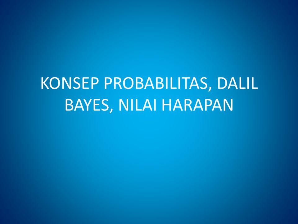 KONSEP PROBABILITAS, DALIL BAYES, NILAI HARAPAN