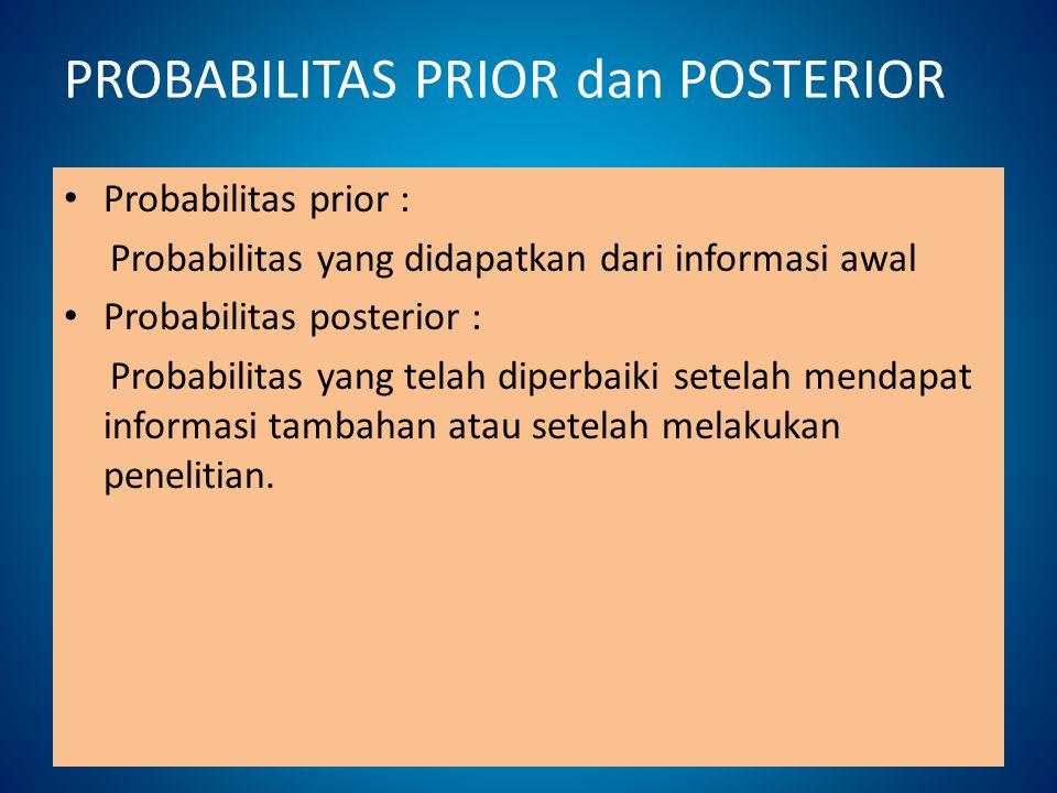 PROBABILITAS PRIOR dan POSTERIOR
