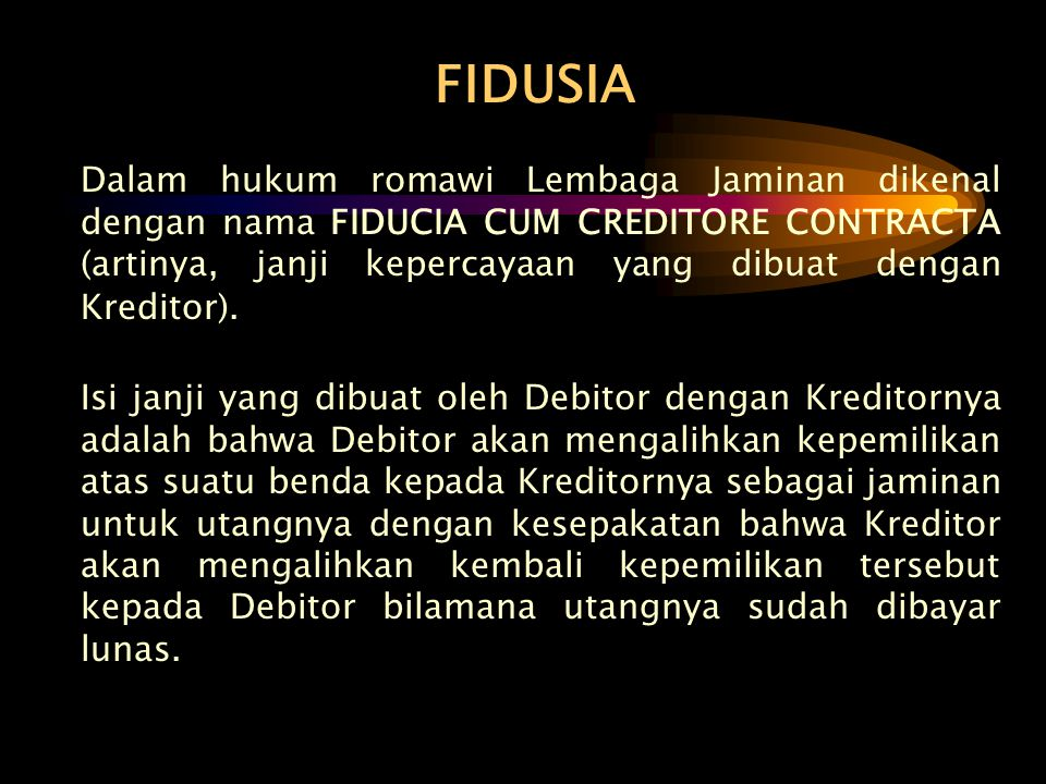 FIDUSIA