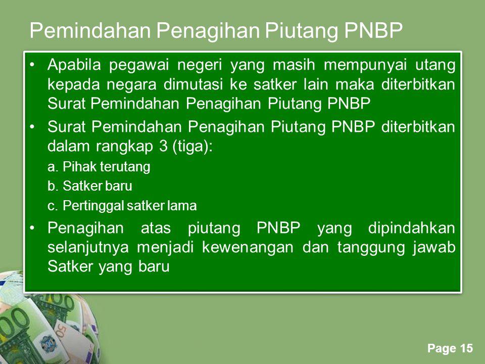 Pemindahan Penagihan Piutang PNBP