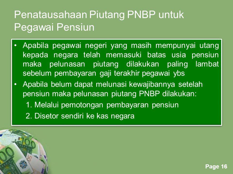 Penatausahaan Piutang PNBP untuk Pegawai Pensiun