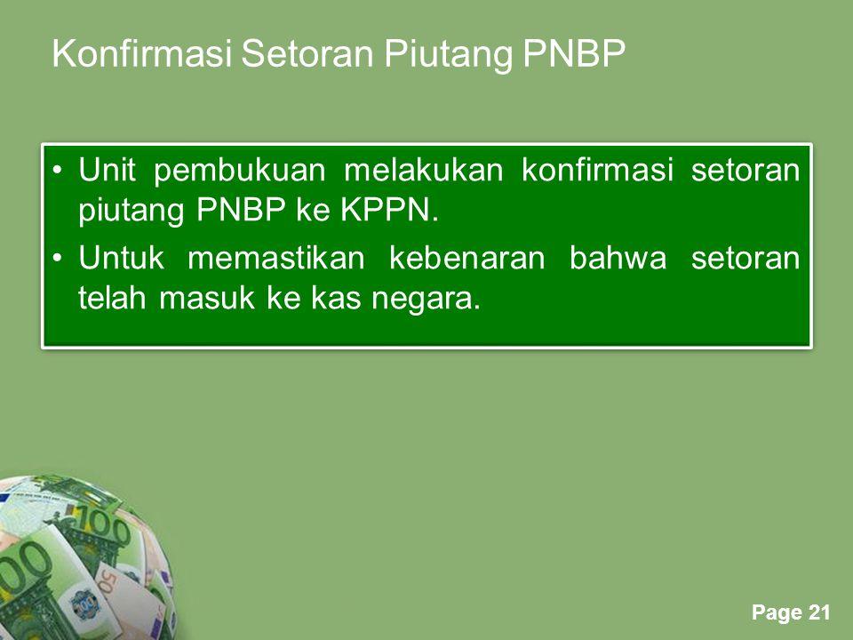 Konfirmasi Setoran Piutang PNBP