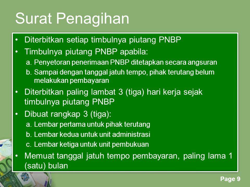 Surat Penagihan Diterbitkan setiap timbulnya piutang PNBP