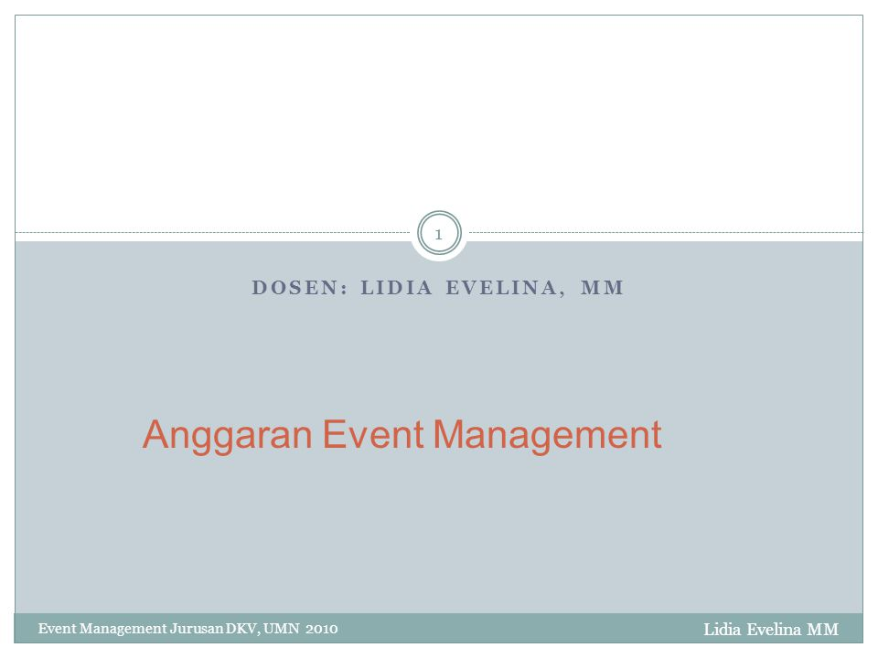 Anggaran Event Management