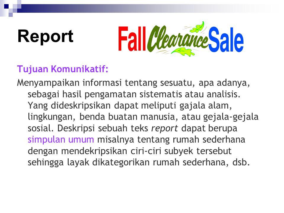 Report Tujuan Komunikatif: