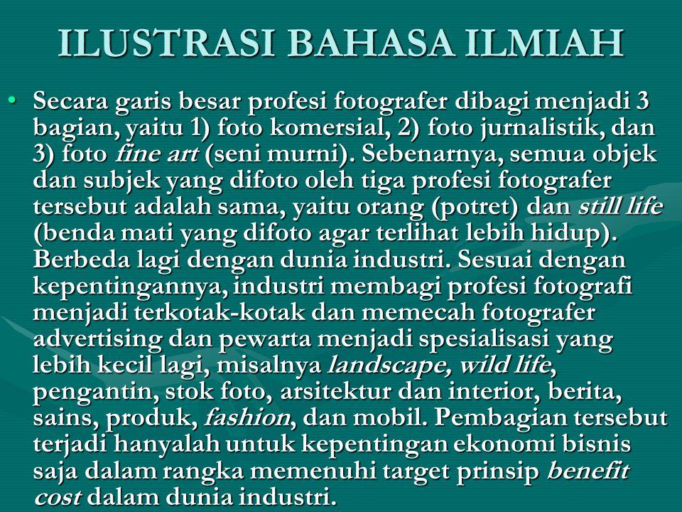 ILUSTRASI BAHASA ILMIAH