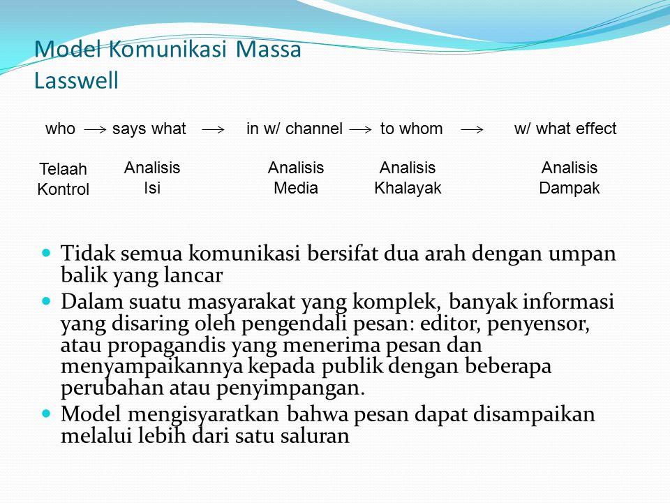 Model Komunikasi Massa Lasswell