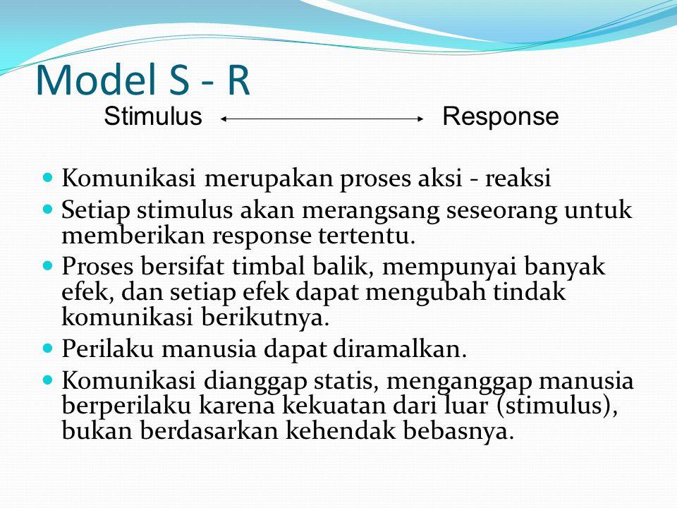 Model S - R Stimulus Response