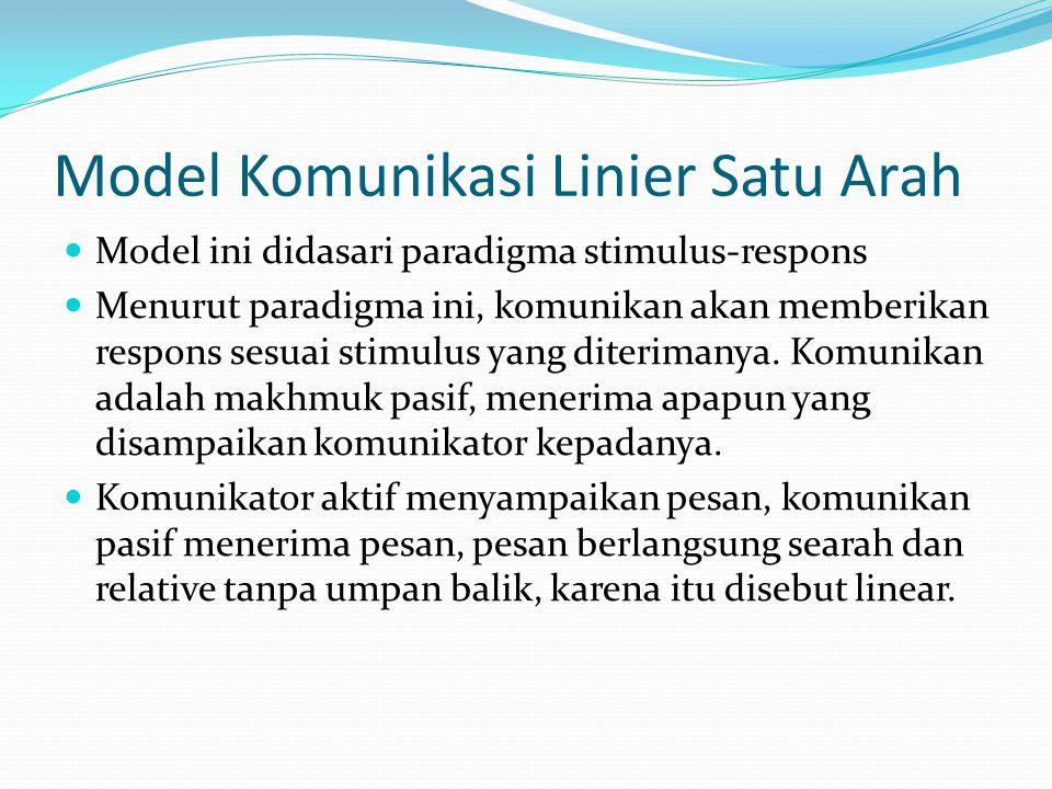 Model Komunikasi Linier Satu Arah