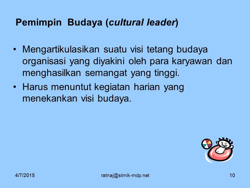 Pemimpin Budaya (cultural leader)