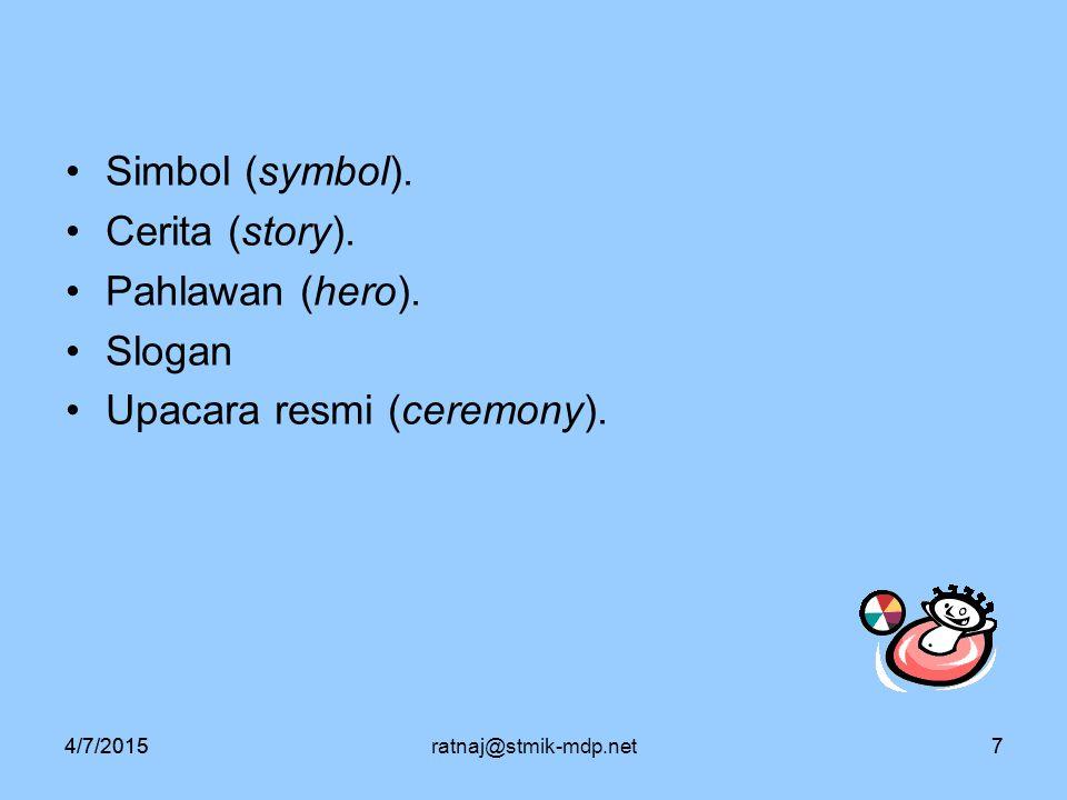 Upacara resmi (ceremony).