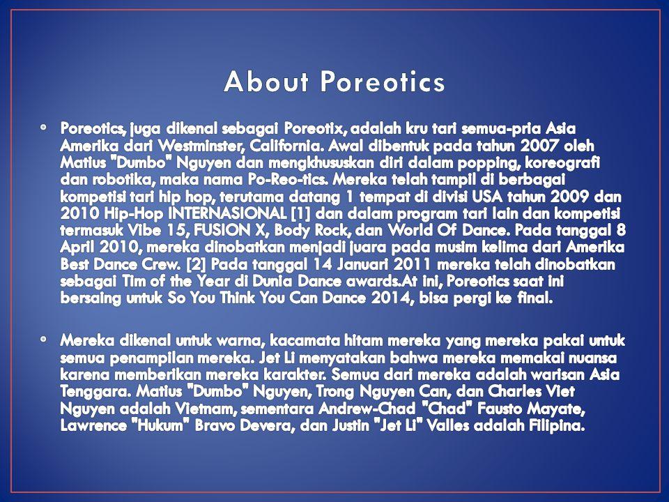 About Poreotics