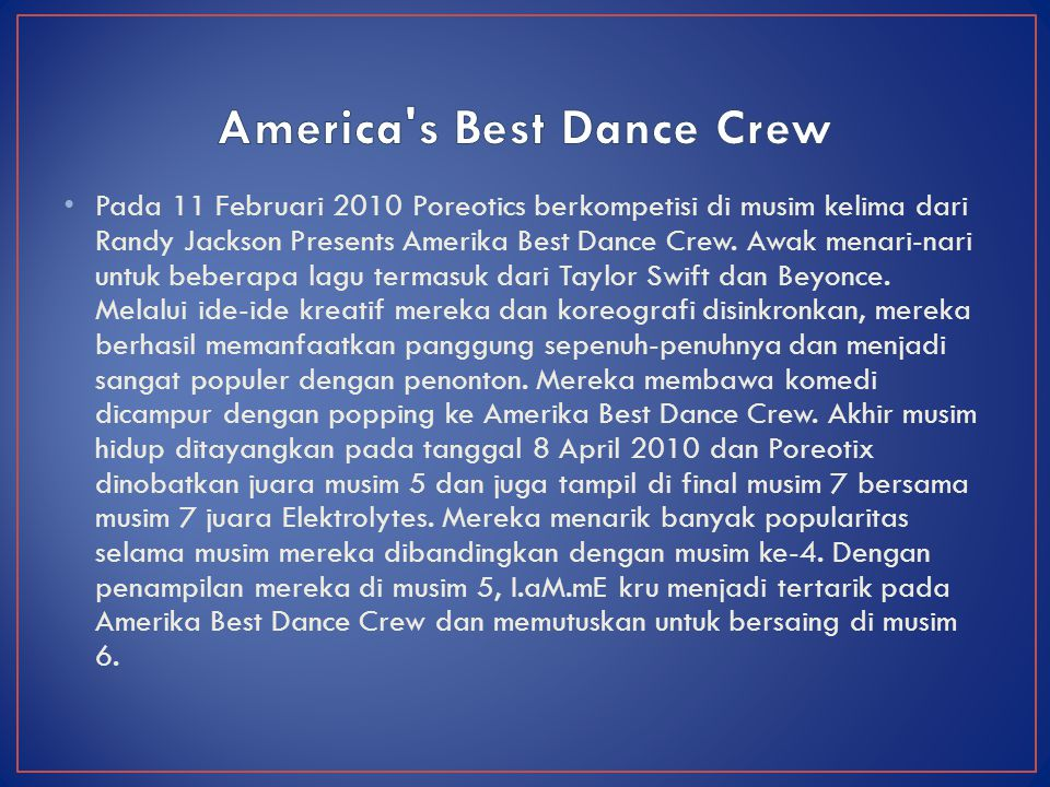 America s Best Dance Crew