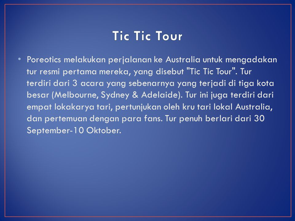 Tic Tic Tour