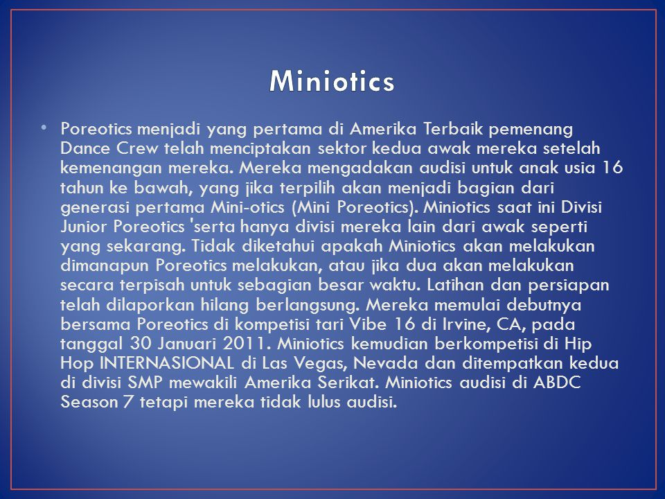 Miniotics
