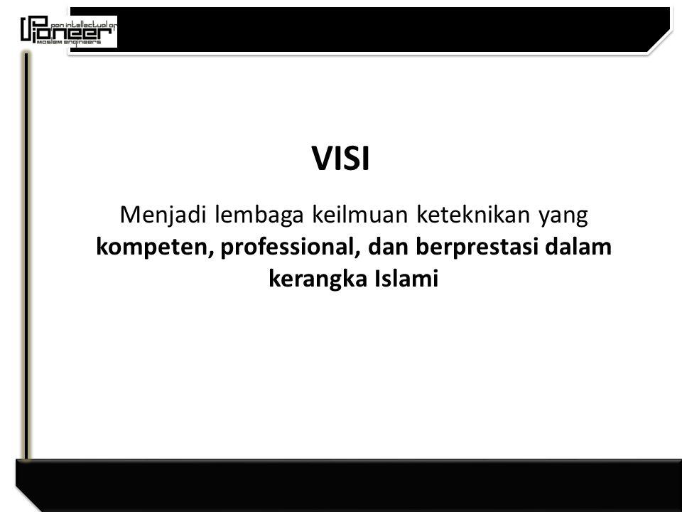 VISI Menjadi lembaga keilmuan keteknikan yang kompeten, professional, dan berprestasi dalam kerangka Islami.