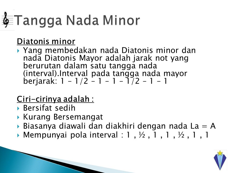 Tangga Nada Minor Diatonis minor