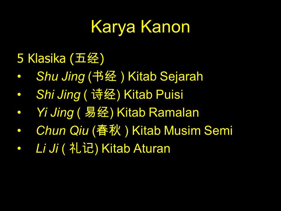 Karya Kanon 5 Klasika (五经) Shu Jing (书经 ) Kitab Sejarah