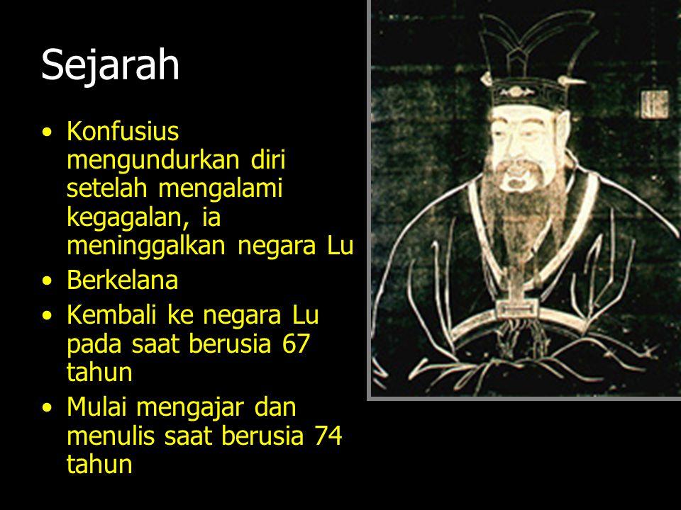 Sejarah Konfusius mengundurkan diri setelah mengalami kegagalan, ia meninggalkan negara Lu. Berkelana.