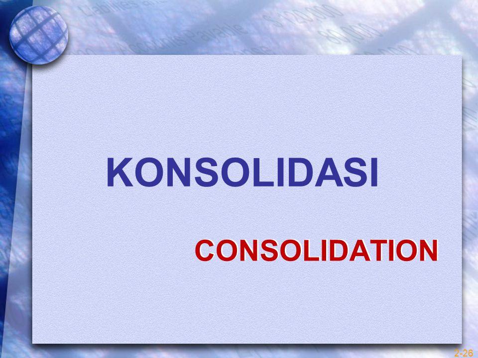 KONSOLIDASI CONSOLIDATION