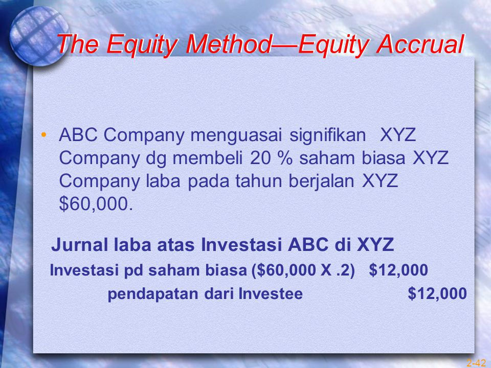 The Equity Method—Equity Accrual