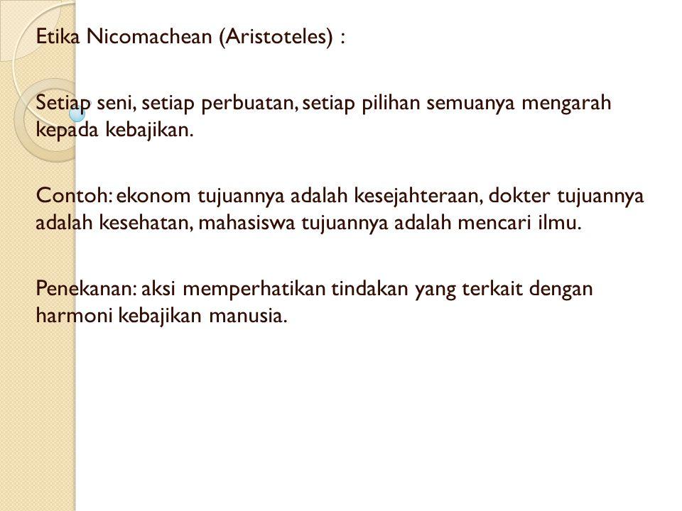 Etika Nicomachean (Aristoteles) :