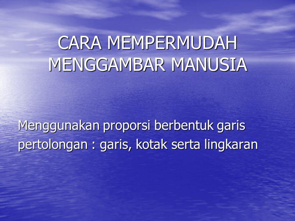 CARA MEMPERMUDAH MENGGAMBAR MANUSIA