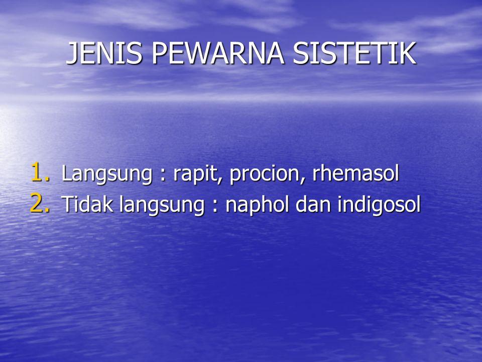 JENIS PEWARNA SISTETIK