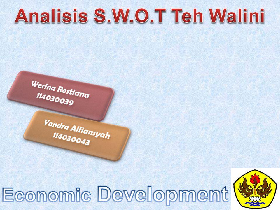 Analisis S.W.O.T Teh Walini