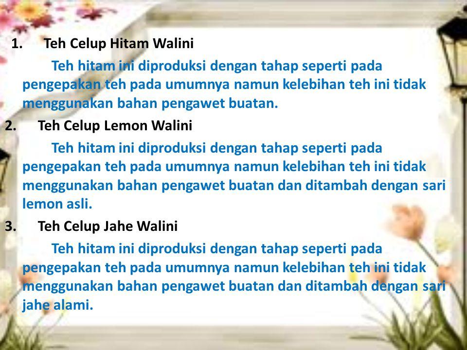2. Teh Celup Lemon Walini 3. Teh Celup Jahe Walini