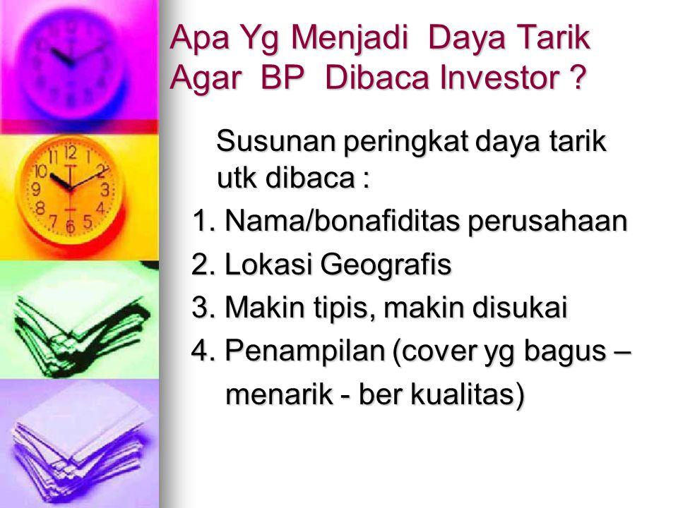 Apa Yg Menjadi Daya Tarik Agar BP Dibaca Investor