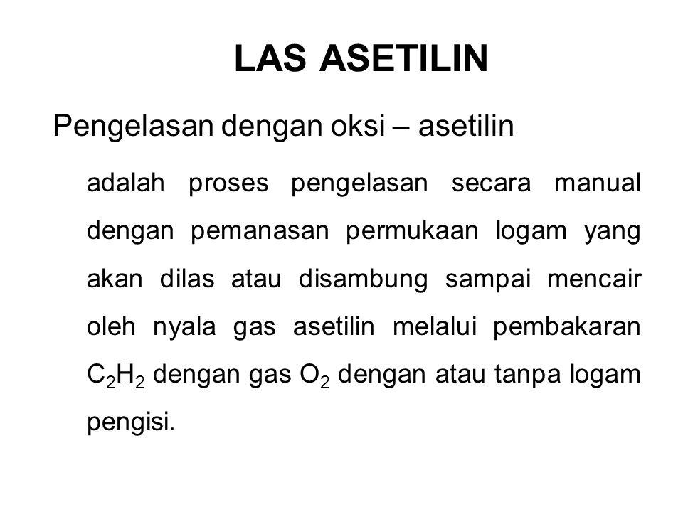 LAS ASETILIN Pengelasan dengan oksi – asetilin